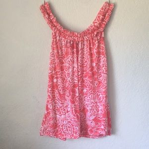 Pink floral patterned tank top with sequins!